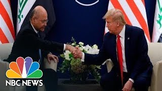 Watch live: Trump meets Iraq president during World Economic Forum