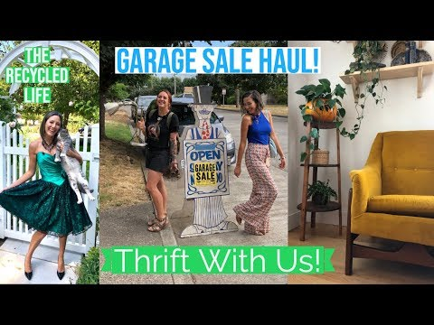 GARAGE SALE HAUL | Thrift With Us | The Recycled Life | Thrift Haul | How To Shop Garage Sales