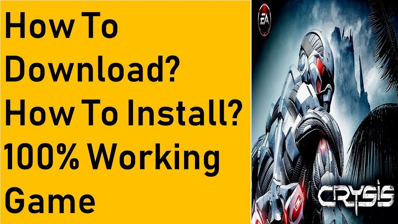 How To Download Crysis 1 Game For PC Free Full Version