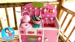 """แกะกล่อง""""ของเล่นเครื่องครัวไม้""""ชุดใหม่ล่าสุด รีวิวของเล่นทำอาหาร ของเล่นไม้ ผักผลไม้หั่นได้"""