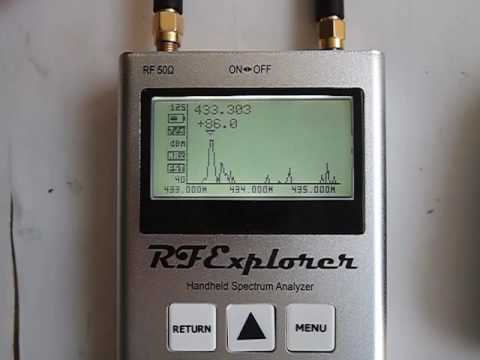 RF Explorer Handheld RF Spectrum Analyzer - YouTube
