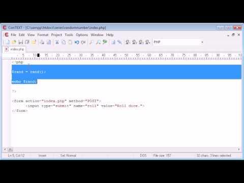 Beginner PHP Tutorial - 60 - Random Number Generation