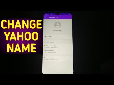 How to Change Name on Yahoo Mail