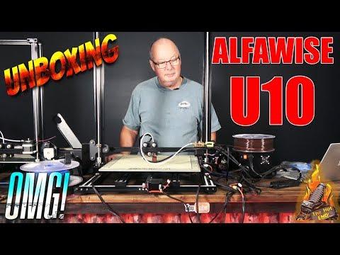 Alfawise U10 3D Printer Build and First Print!!