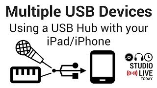 Connect Multiple USB Devices to an iPad/iPhone using a Powered USB Hub (GarageBand iOS)