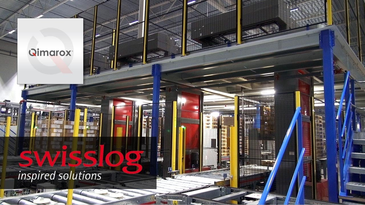 Palletising system by Swisslog with Qimarox modules