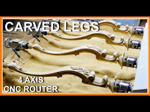 Carved Cabriole Legs. 4 Axis CNC.
