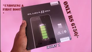 New Panasonic ELUGA i3 Mega 4G Unboxing[4000mAH +3GB RAM] ||RS 6750 ONLY || # Part 1/2