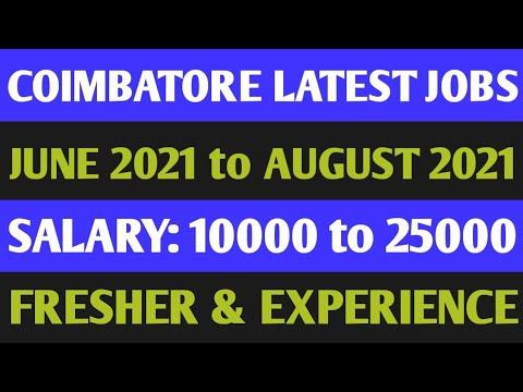 Coimbatore Latest Jobs 2021 | High Salary Jobs | Freshers Jobs In Coimbatore | Private Jobs 2021 |