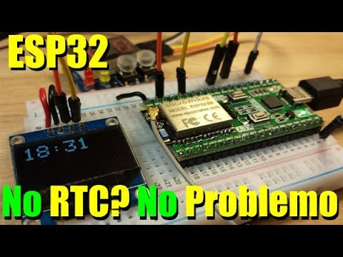 Esp32 real time clock battery