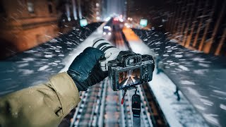 I Shot in the BLIZZARD Street Photography POV for 3 Hours