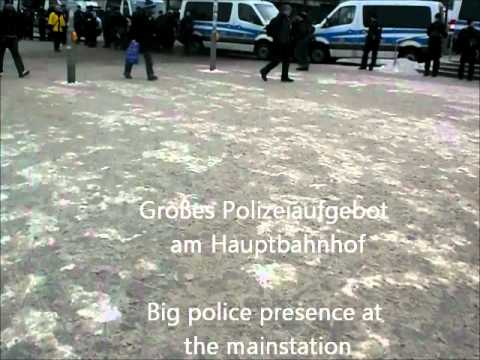 13.02.2012 Polizeieinsatz in Dresden - Police operations in Dresden (Germany)