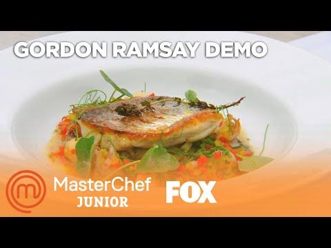 Gordon Ramsay Demonstrates How To Cook Red Snapper | Season 4 Ep. 10 | MASTERCHEF JUNIOR
