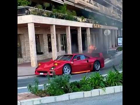 Ferrari F40 Caught Fire in Monaco !!!💥