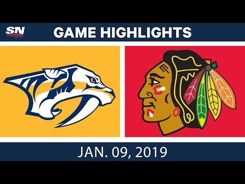 NHL Highlights | Predators vs. Blackhawks - Jan. 9, 2019