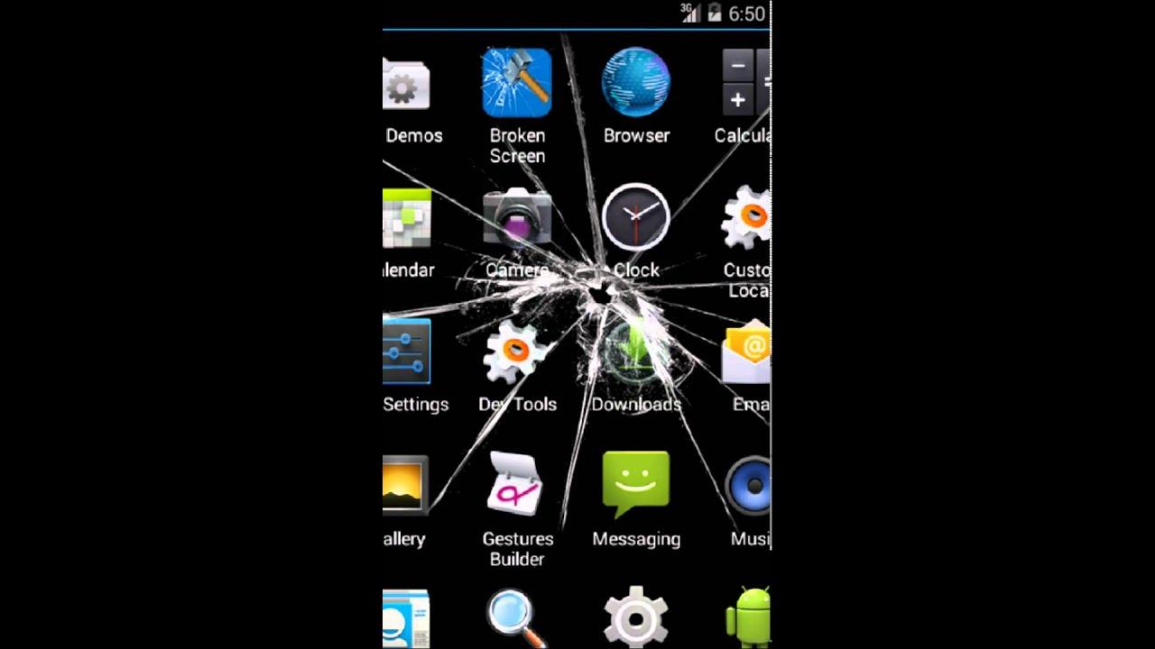 Broken Phone Screen Wallpaper