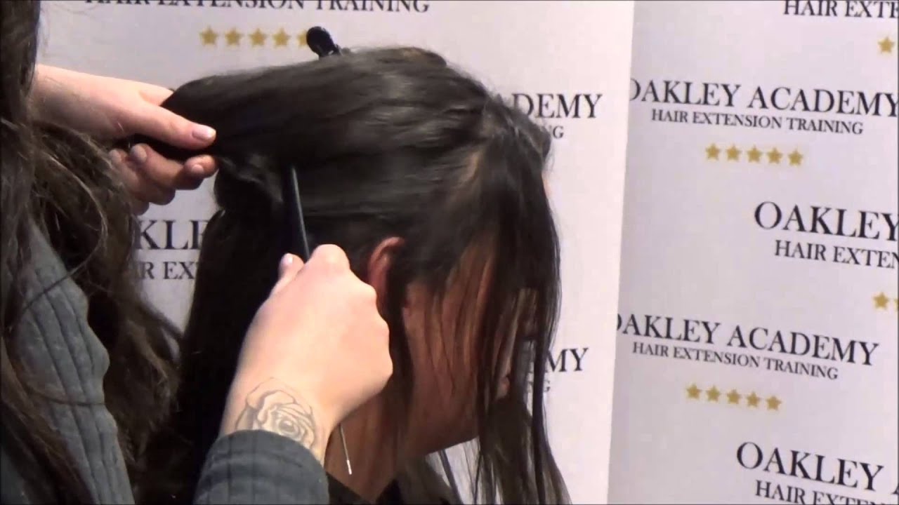 Micro Ring Weft Hair Extension Training Youtube
