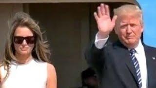 President Trump Melania, Ivanka, Leave Israel Tel Aviv for Rome Italy 5/23/2017