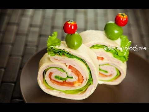 Turkey Ham Wrap (Sandwich) Recipe