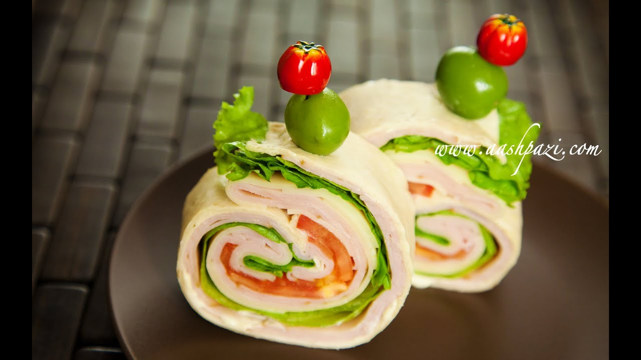 Turkey Ham Wrap Sandwich Recipe Youtube
