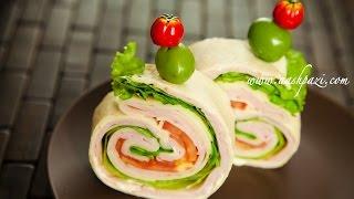 Turkey Ham Wrap (sandwich) Recipe