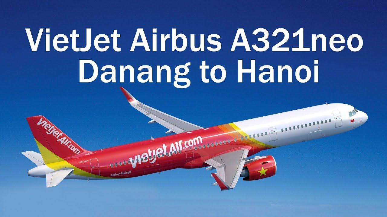 VietJet Airbus A321neo Danang to Hanoi
