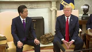 President Trumps Meets with the Prime Minister of Japan Shinzō Abe