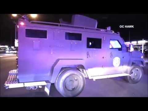 Garden Grove suspect grabs officers AR15 and shoots