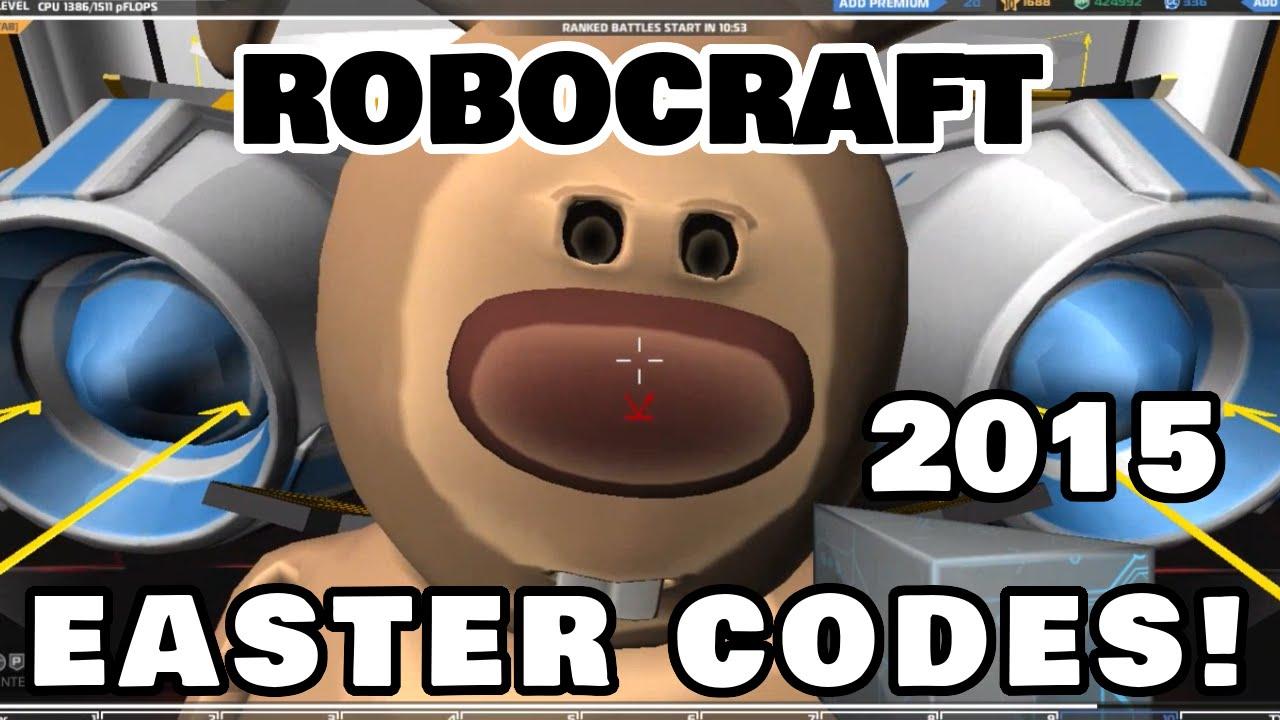 Robocraft Easter Promo Codes 2015 [Amar McLegend] - YouTube