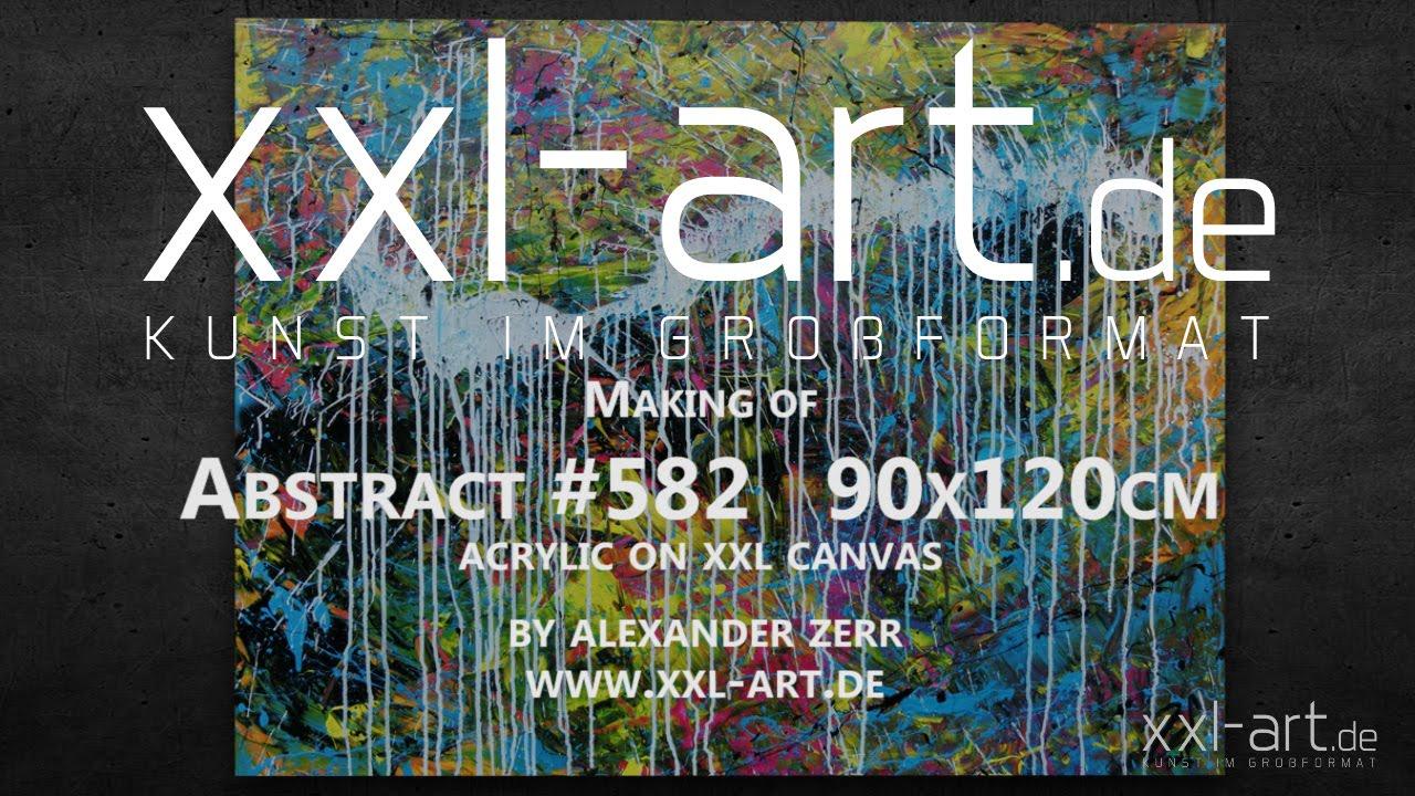 Xxl Art abstract painting xxl 90x120cm #582alexander zerr xxl-art.de
