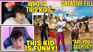 CLIX & RONALDO Meet The NICEST Kid In Creative Fill Then Invites Him To Play & Cant Stop Laughing!