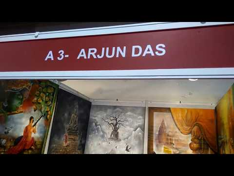 ARJUN DAS (ARTIST) kala spandan international art fair ,mumbai