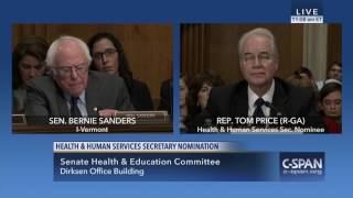 Sanders Questions HHS Nominee Rep. Tom Price