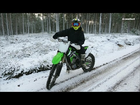 Kawasaki KX450F - My First Test Ride   Raw Sound  