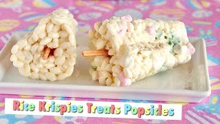 How to Make Rice Krispies Treats Popsicles (in JAPAN with Rainbow Mallows Recipe) | OCHIKERON
