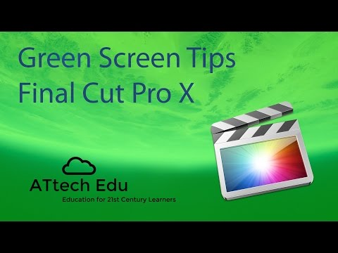 How to use Green Screen with Final Cut Pro X - Chroma Key - FCP - Special effects in Final Cut Pro X thumbnail