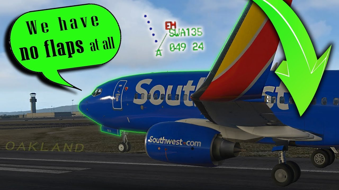 [REAL ATC] Southwest B737 Landing with FLAPS UP at Oakland!