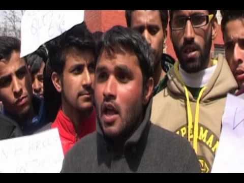 gujjar and bakarwal welfare asso protest on reservation quota 15\3 \2016 jnskashmirj