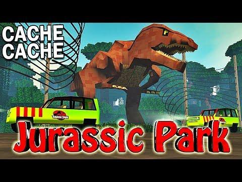 CACHE CACHE JURASSIC PARK ! | Minecraft !