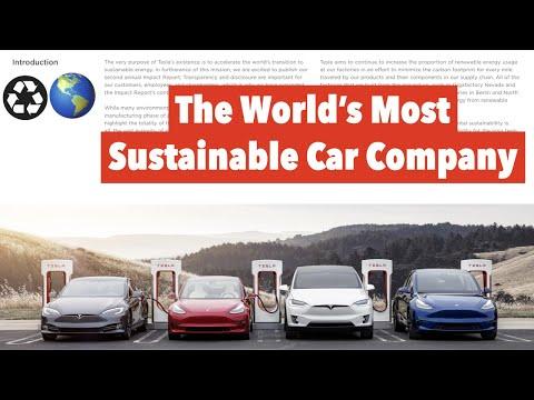 Tesla Impact Report Sets A New Standard ♼🌎