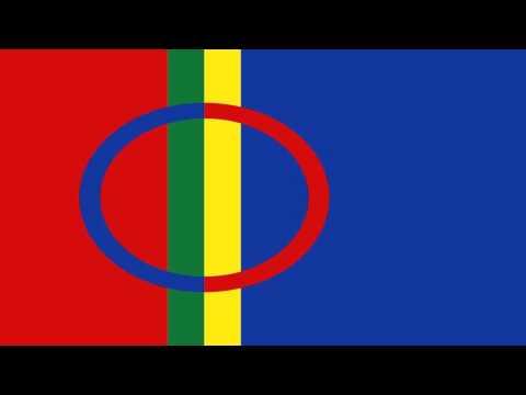 Bandera Secesionista del Pueblo Lapón - Secessionist Flags of The Lappish People