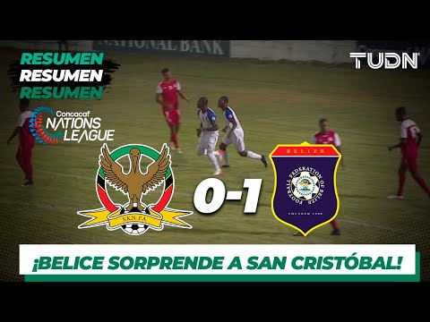 Resumen y gol | Saint Kitts 0-1 Belice | CONCACAF Nations League | TUDN