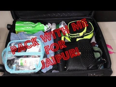 Pack My Bag With Me For Jaipur Trip! II Indian Beauty Vlogger