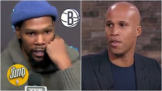 Richard Jefferson reacts to Kevin Durant's exchange with Michael Rapaport | The Jump