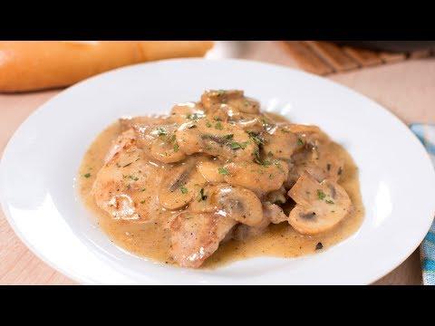 Pollo con Champiñones en Salsa de Mantequilla (SIN HORNO) | Guisos de Pollo Fáciles y Rápidos