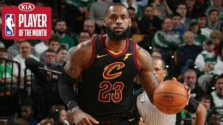 LeBron James Averages a Triple-Double for all of February | Kia Player of the Month February