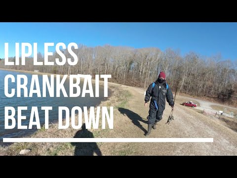 Winter Bank Fishing For Bass: Super Windy Conditions