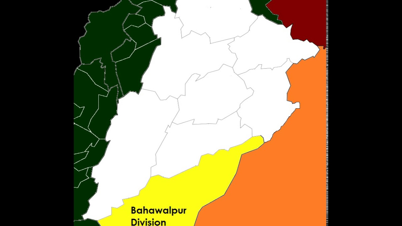 Map of post2008 Bahawalpur Division YouTube