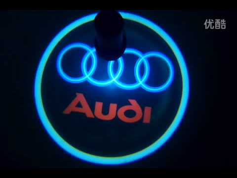 led car welcome light laser logo light for audi youtube. Black Bedroom Furniture Sets. Home Design Ideas