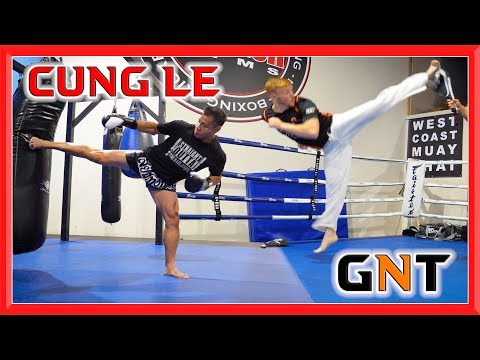 Training with MMA Legend Cung Le | Martial Arts & Kick Sampler | GNT
